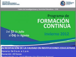 Webinario: Educacin Virtual