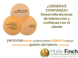 Webinario: GENERAS CONFIANZA? Desarrolla tcnicas de interaccin y confianza con el cliente