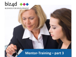 Webinar: Mentor Training Part III: Q + A session