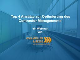 Webinar: Top 4 Ansätze zur Optimierung des Contractor Managements