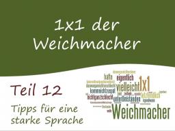 Webinar: Teil 12: Für eine starke Sprache - das 1x1 der Weichmacher