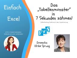 "Webinar: Das ""Tabellenmoster"" in 7 Sekunden zähmen"