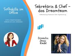 Webinar: Sekretärin & Chef  das Dreamteam