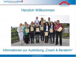 Webinar: Informationen zur Ausbildung Coach & BeraterIn der CoachAkademieSchweiz