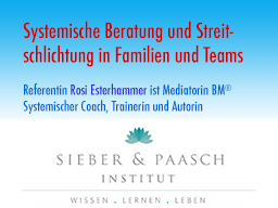 Webinar: Systemische Beratung und Streitschlichtung in Familien und Teams