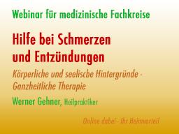 Webinar: Hilfe bei Schmerzen und Entzündungen