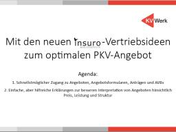 Webinar: Mit den neuen insuro-Vertriebsideen zum optimalen PKV-Angebot