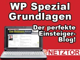 Webinar: WP Spezial Grundlagen: Der perfekte Einsteiger-Blog!
