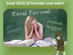 Webinar: Intensiv Online-Reihe Excel 2013/10 Formeln und mehr