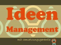 Webinar: Ideenmanagement mit Umsetzungsgarantie