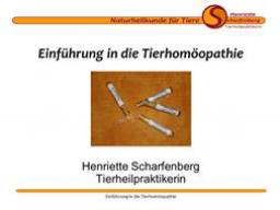 Webinar: Einführung in die Tierhomöopathie