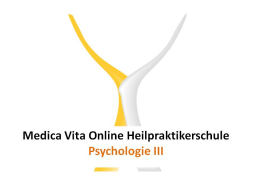 Webinar: Psychologie III