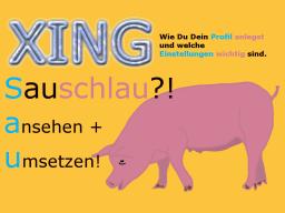 Webinar: Sauschlau! XING-Profil und wichtige Einstellungen.