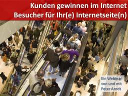 Webinar: Webinar Kompaktkurs - Teil 4 - Besucher gewinnen