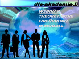 Webinar: Theoretische Einführung in Moodle
