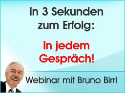 Webinar: In 3 Sekunden zum Erfolg  In jedem Gespräch!
