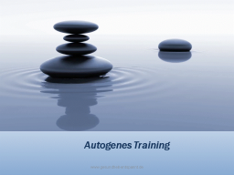 Webinar: Autogenes Training