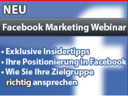 Webinar: Facebook Marketing: Sponsored Stories Werbeanzeigen