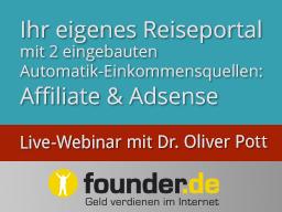 Webinar: Live-Webinar mit Dr. Oliver Pott: Ihr eigenes Reiseportal