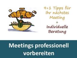 Webinar: Meetings professionell vorbereiten - Einzeltraining