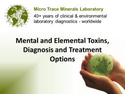 Webinar: Mental and Elemental Toxins, Diagnosis and Treatment Options