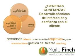 Webinar: GENERAS CONFIANZA? Desarrolla técnicas de interacción y confianza con el cliente