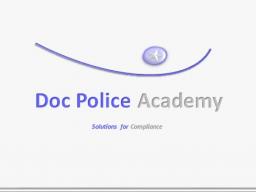 Webinar: Geldwäscheseminar online der Doc Police Academy zum neuen Meldewesen goAML