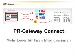 Webinar: PR-Gateway Connect: Mehr Leser für Ihren Blog gewinnen