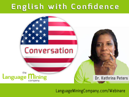 Webinar: English with Confidence