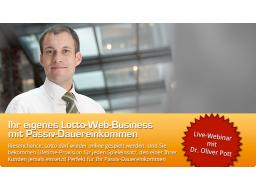 Webinar: Historische Chance - Dr. Oliver Pott über Passives Einkommen mit Online-Lotto