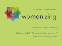 Webinar: womenizing - Gender Gap, what are the reasons