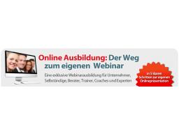 """Webinar: """"Der Weg zum eigenen Webinar"""" - 3. Modul"""
