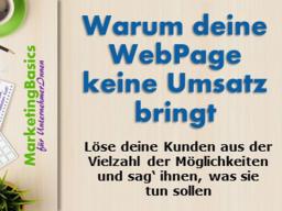 Webinar: Warum deine Webpage keinen Umsatz bringt