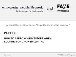 Webinar: How to approach investors when looking for growth capital