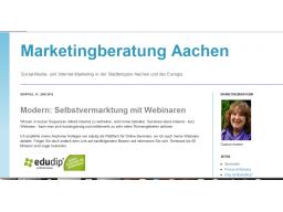 Webinar: Blogs - effektive Selbstvermarktung