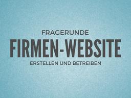 Webinar: Firmenwebsite erstellen - Ich beantworte ihre Fragen