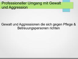 Webinar: Professioneller Umgang mit Gewalt und Aggressionen
