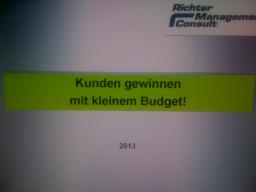 Webinar: Kunden gewinnen mit kleinem Budget!