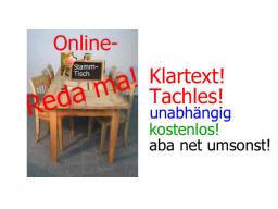 Webinar: Reda ma - Online-Stammtisch