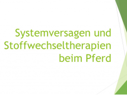 Webinar: Systemversagen und Stoffwechseltherapien beim Pferd Teil 1
