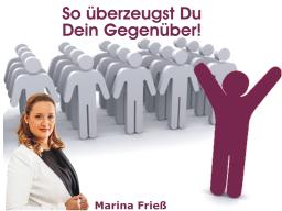 Webinar: Marina Frieß - Erfolgsfaktor Eigenmarketing