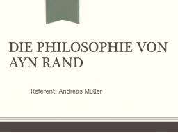 Webinar: Die Philosophie von Ayn Rand (Philosophie-Webinar)