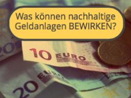 Webinar: Geld mit Sinn: Was können nachhaltige Geldanlagen bewirken?