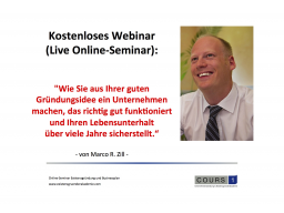 Webinar: Existenzgründer-Schnellstart-Webinar