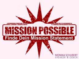 Webinar: Mission Possible - Ein wichtiger Schlüssel zur Marke ICH