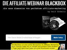 Webinar: Blackbox: Wie Sie 4756,00 Euro pro Monat mit Webinaren verdienen, und niemals selbst ein Webinar halten müssen!