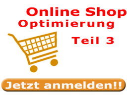 Webinar: E-Commerce - Online Shop Optimierung Teil 3 - Grundlagen - Sofort umsetzbare Tipps zum schnellen Einstieg ins Online Business