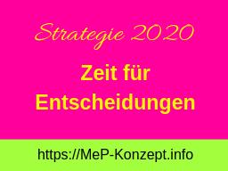 Webinar: Strategie 2020-Zeit für Entscheidungen!