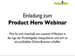 Webinar: Das Product Hero System