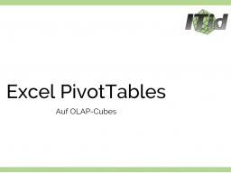 Webinar: Microsoft Excel + OLAP